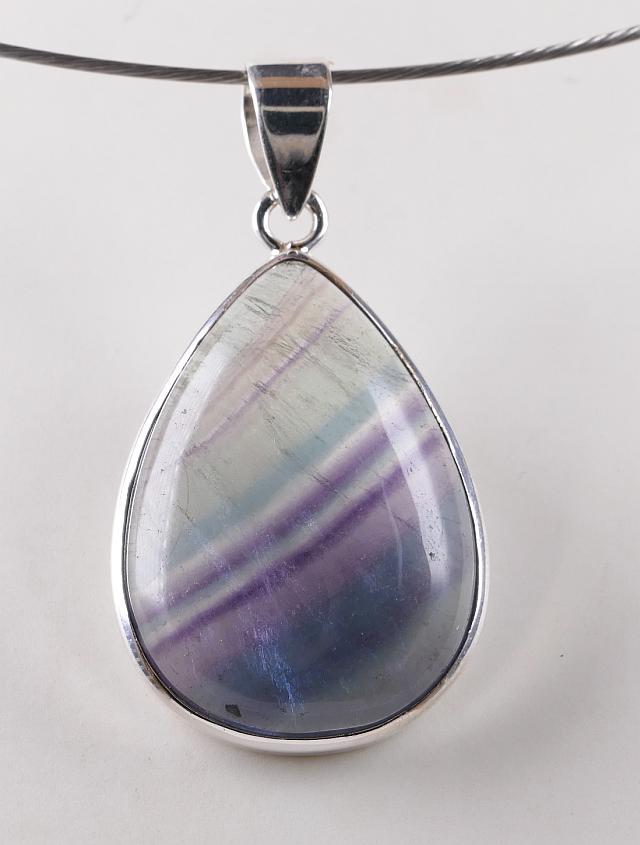 Fluorite Macram\u00e9 Necklace